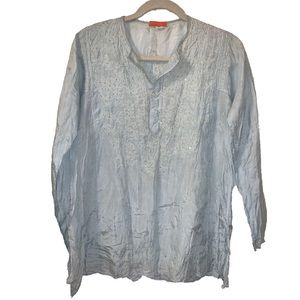 """""""Glam"""" brand embroidered shiny tunic made in india"""